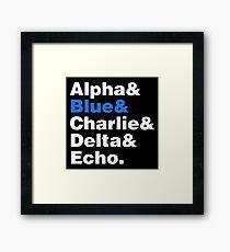Raptor Squad Helvetica Framed Print