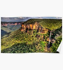 Awe - Govetts Leap and Govetts Leap Falls - Blue Mountains World  Heritage Area - The HDR Experience Poster