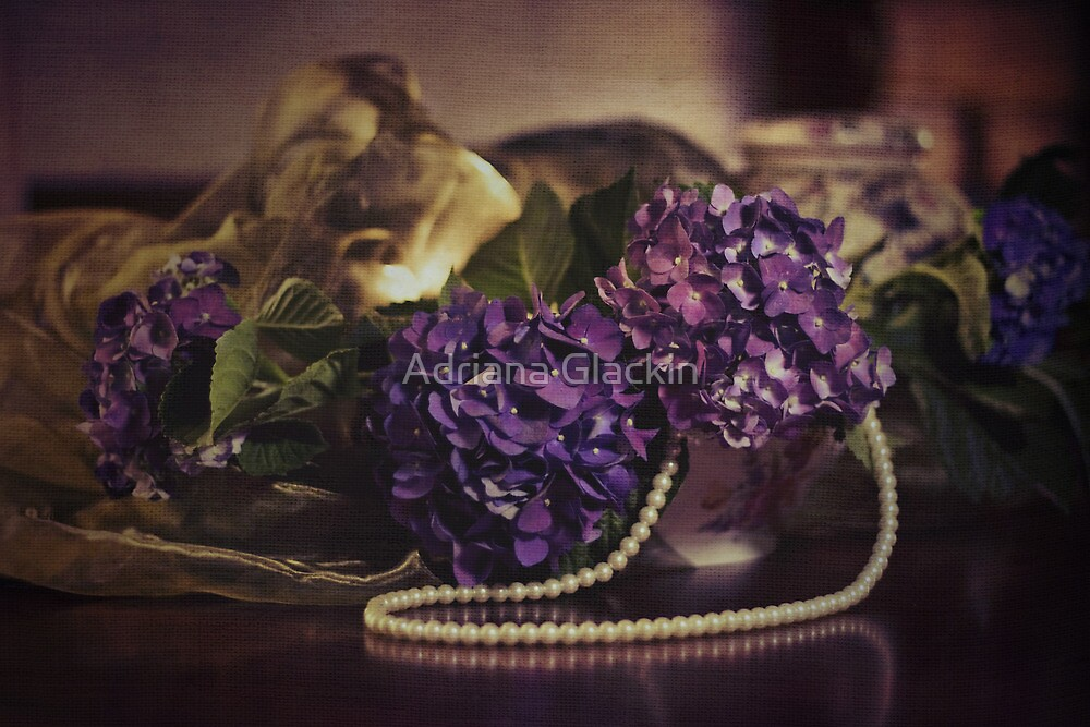 ~ still life - hydrangeas ~ by Adriana Glackin