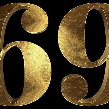 69 Gold Sixtynine Position Typography by Under-TheTable