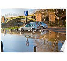 Flooded Carpark: Richmond. London. Poster