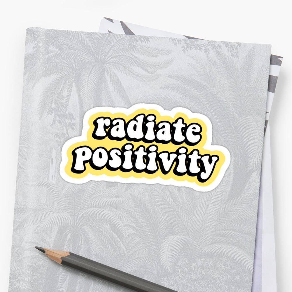 Irradiar positividad Pegatina