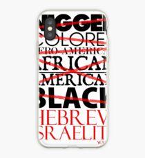 HEBREW ISRAELITE WHT iPhone Case