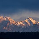 Kamnik Alps in the morning. by Ian Middleton