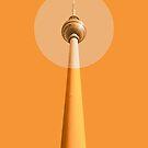 Berlin - The TV Tower von Black Sign Artwork