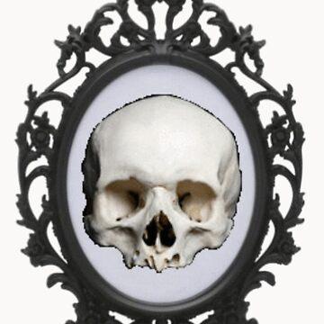 Framed Skull by loki13outlaw