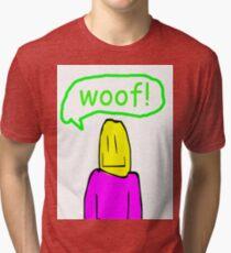 paul says woof Tri-blend T-Shirt