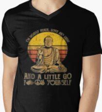 I'm mostly peace love light and a little go Yoga Tshirt Men's V-Neck T-Shirt
