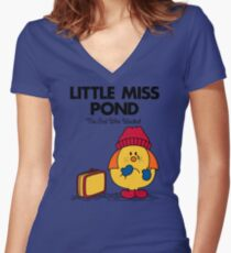 Little Miss Pond Women's Fitted V-Neck T-Shirt