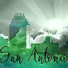 San Antonio | Stadt Skyline | Buntes Aquarell von PraiseQuotes