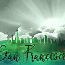 San Franscisco | Stadt Skyline | Buntes Aquarell von PraiseQuotes