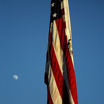 The flag and the moon by jammingene