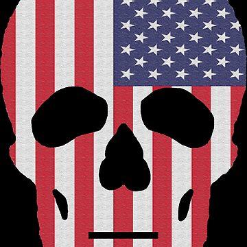 USA FlagSkull by arkitekta