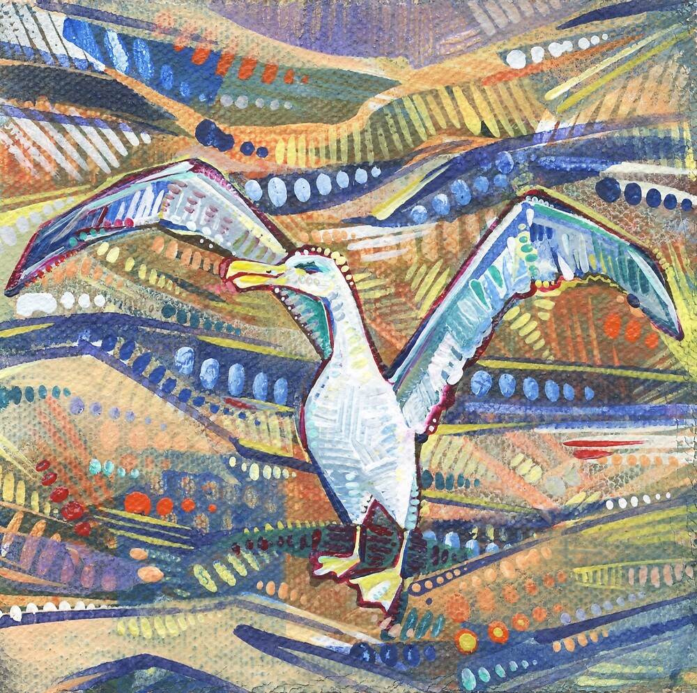 Albatross Painting - 2016 by Gwenn Seemel