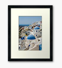 Oia the Beautiful Framed Print