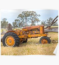 Old Tractor at tree.... Poster