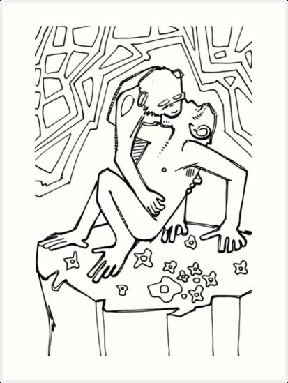 Láminas artísticas «Bonobo, imagen del libro para colorear» de Gwenn ...