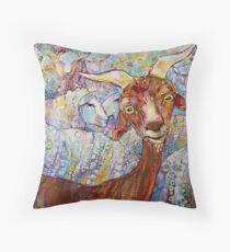 Goat/sheep painting - 2014 Throw Pillow