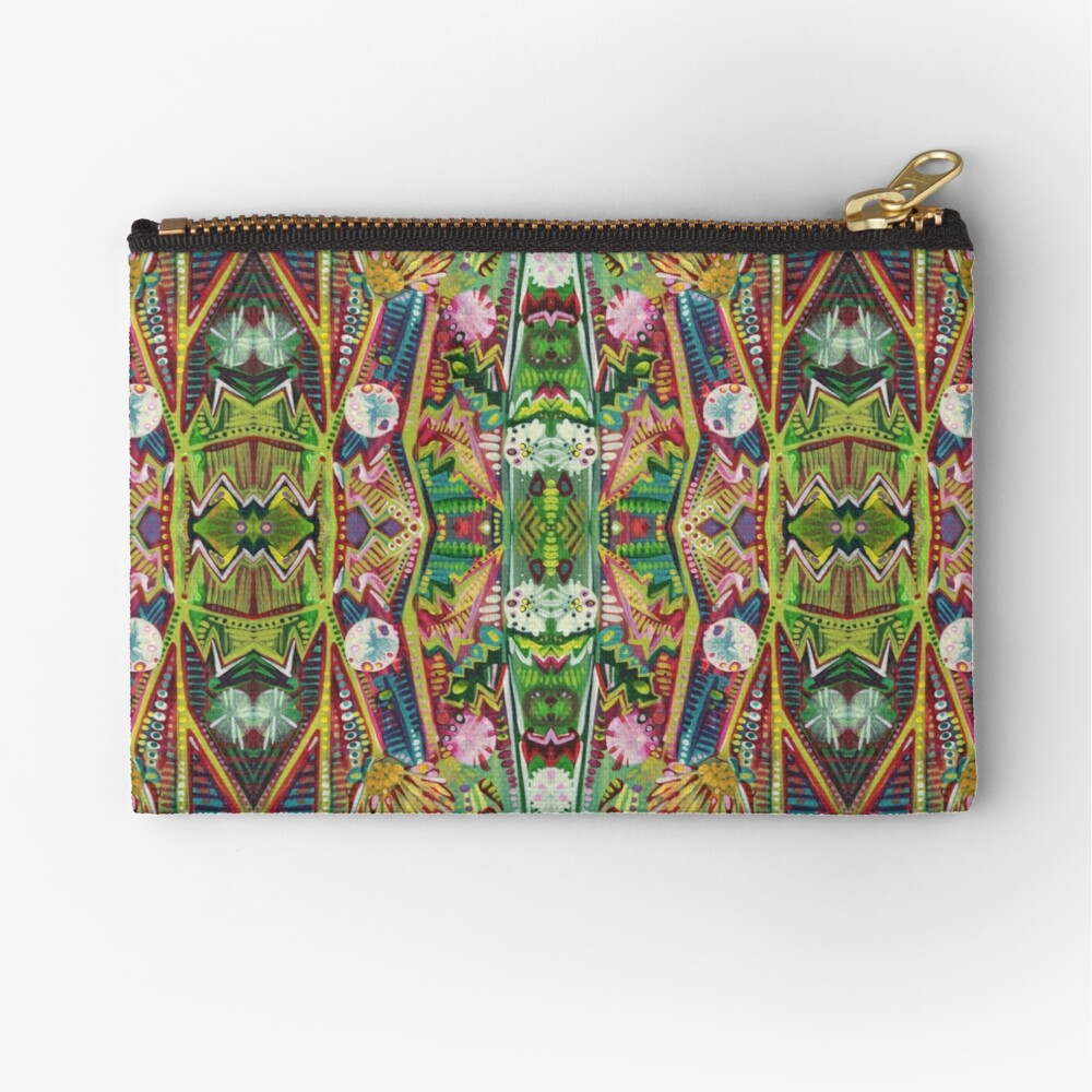 Thistle detail painting - 2015 Zipper Pouch