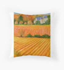 Autumn in a French provincial vineyard Floor Pillow