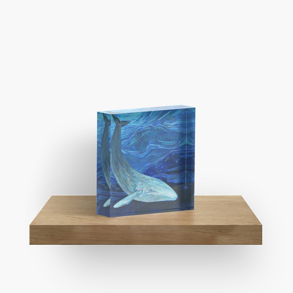 Blue whale painting - 2012 Acrylic Block
