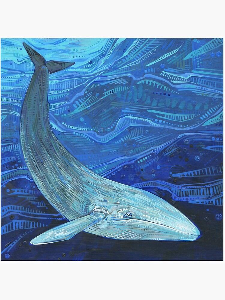 Blue whale painting - 2012 by gwennpaints