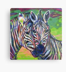 Zebras malen - 2012 Metalldruck
