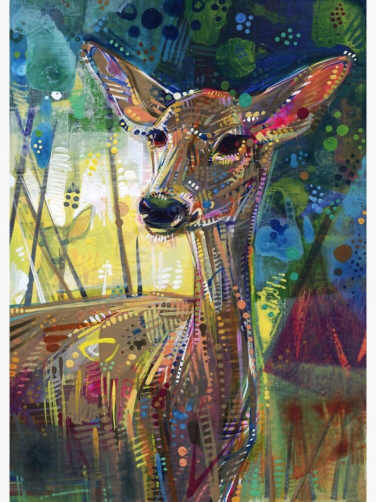 Deer painting - 2011 by gwennpaints