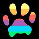 Rainbow Paw Print by Jade Damboise Rail