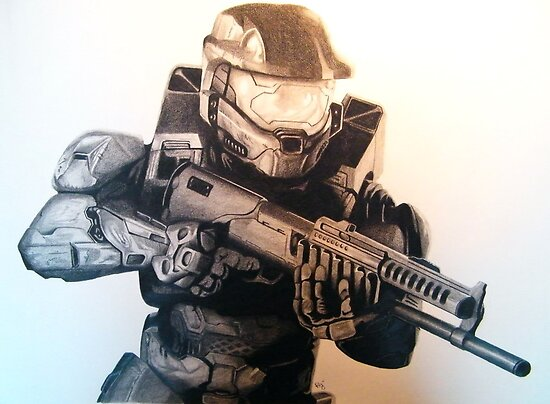 Master Chief- Halo by Ron Griggs