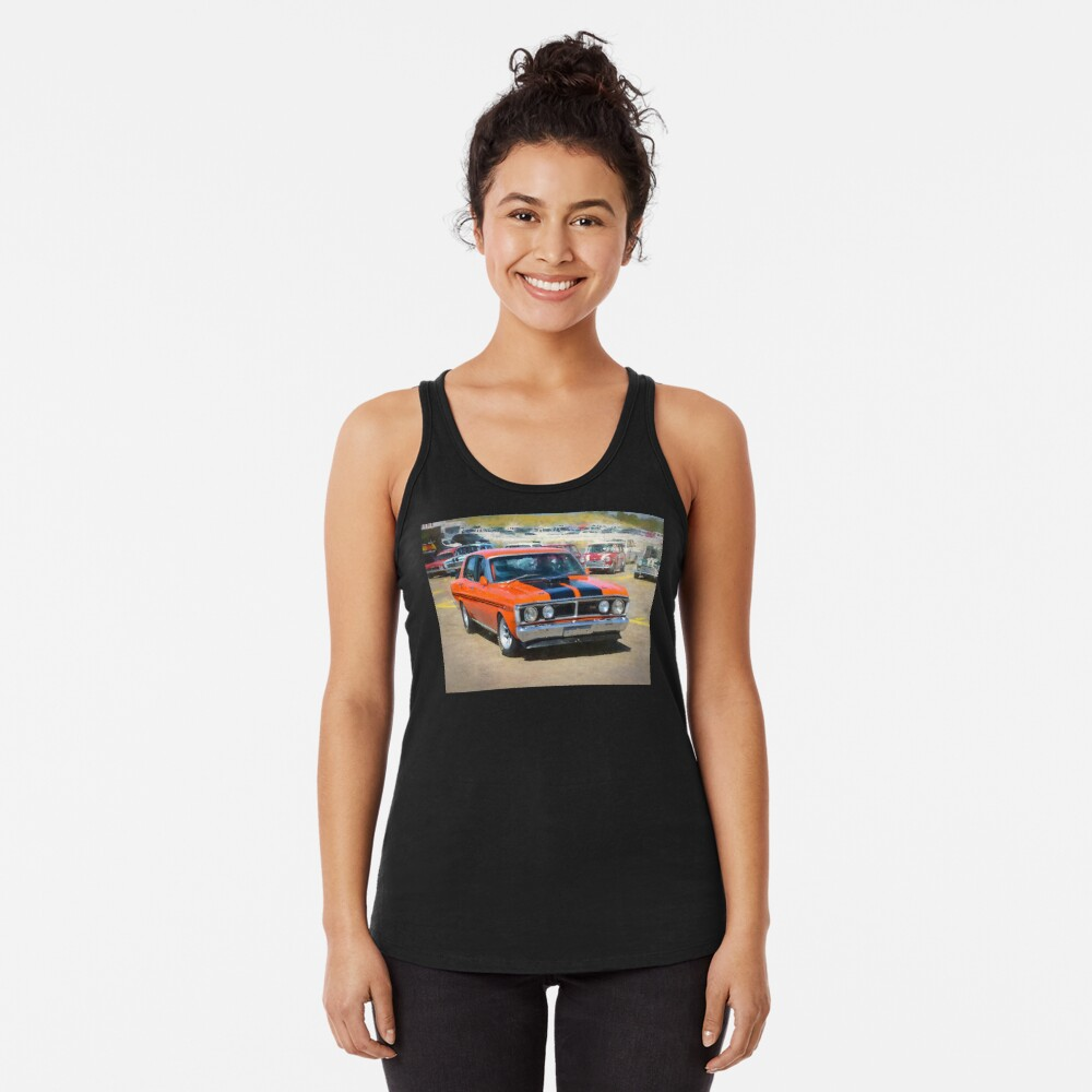 Red XY Ford Falcon 351GT Racerback Tank Top