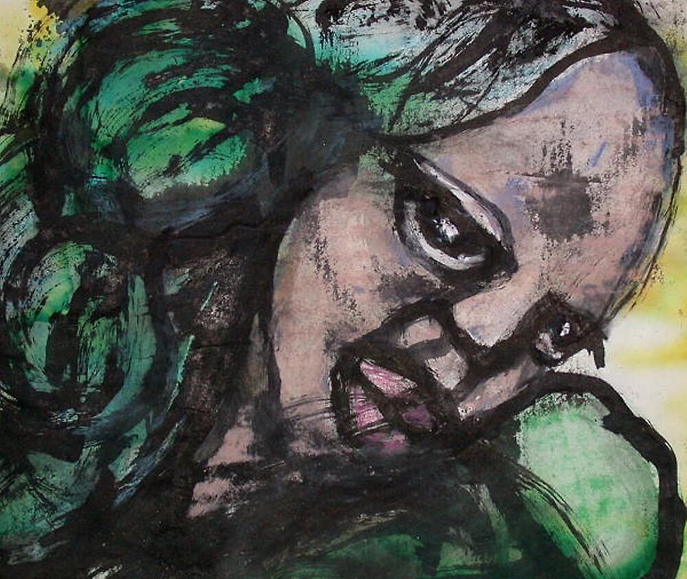 Green Face - Bernard Lacoque by ArtLacoque