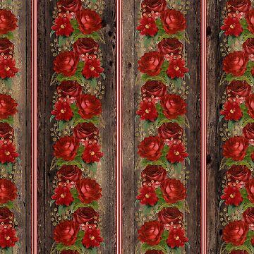 Rustic Floral Rose Wood Pallet by 4Craig