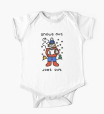 Snows Out Joes Out Short Sleeve Baby One-Piece