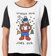 Snows Out Joes Out Chiffon Top
