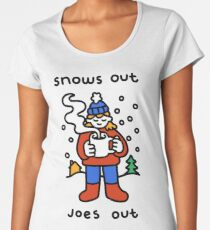 Snows Out Joes Out Premium Scoop T-Shirt