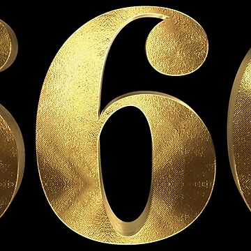 Six Six Six 666 Golden Numbers Typo by Under-TheTable