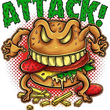 Angry Fast Food Burger Boss - Foodie Monster by drlayson
