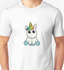 Süßes Einhorn Niedlich Verspielt  Slim Fit T-Shirt