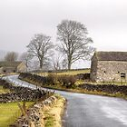 Foggy Morning in the Yorkshire Dales, England by Christine Smith