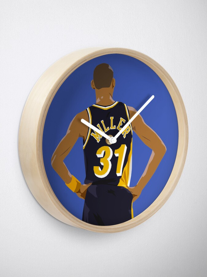 Alternate view of Reggie Miller Back-To Clock