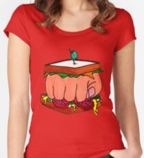 Knuckle Samich! Women's Fitted Scoop T-Shirt