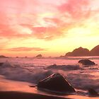 Pacific Sunset, Klamath, California by Valarie Napawanetz