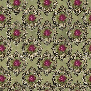 Antique Rose Pattern by 4Craig