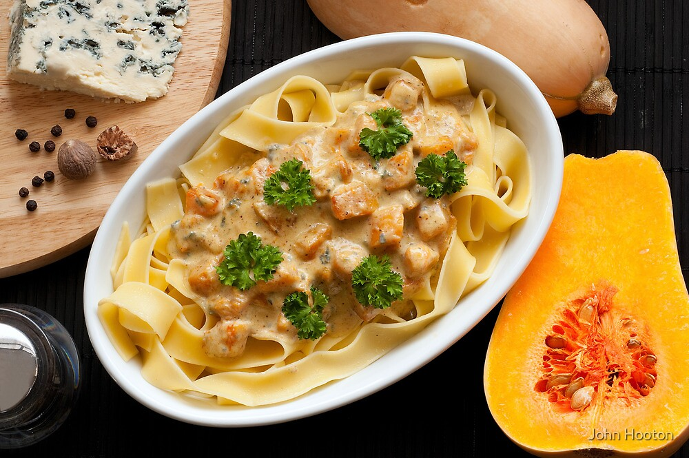 Pappardelle with Butternut Squash and Saint Agur 2 by John Hooton