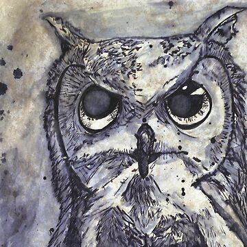 Inky Owl by Kyleacharisse