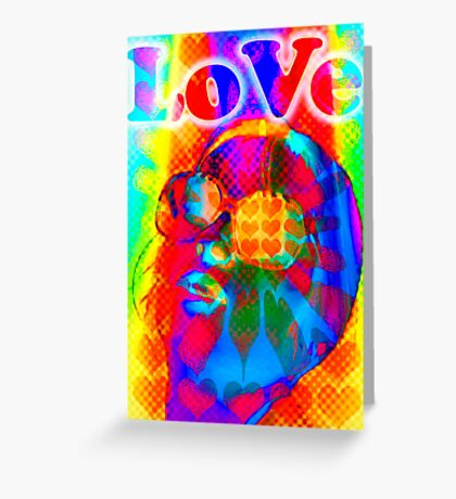 Psychodelicious love  Greeting Card