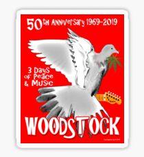 Woodstock 50th Anniversary Glossy Sticker