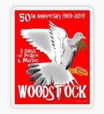 Woodstock 50th Anniversary Transparent Sticker