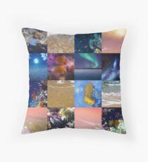 Sealife And SeaShore Collage by Hurmerinta Floor Pillow